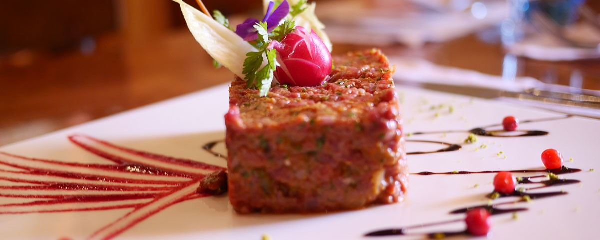 Steak tartare Auberge de Gilly