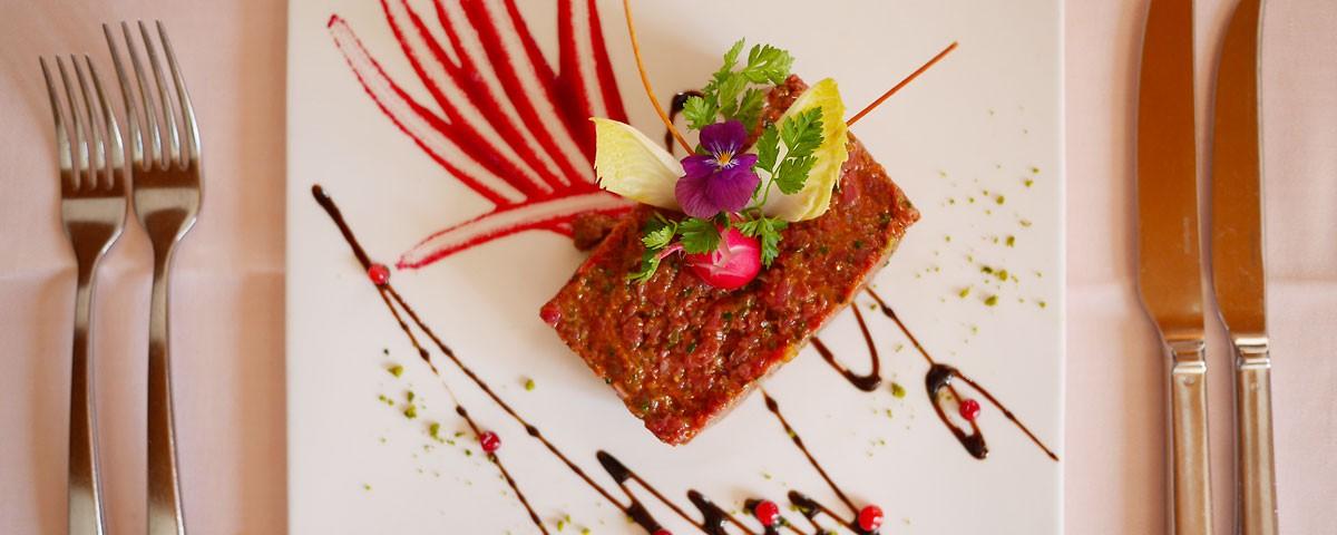 Steak tartare Auberge de Gilly