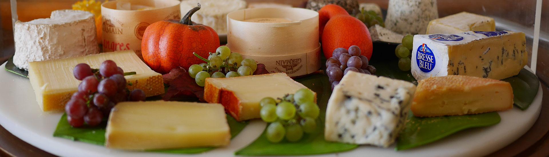 Plateau de fromages Auberge de Gilly