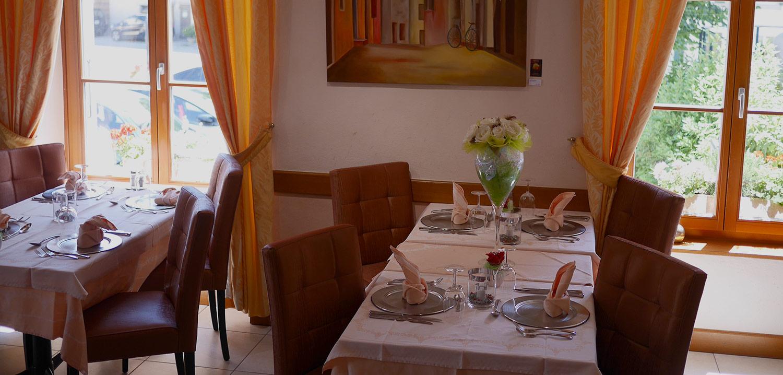 Bannière Salle à Manger Auberge de Gilly