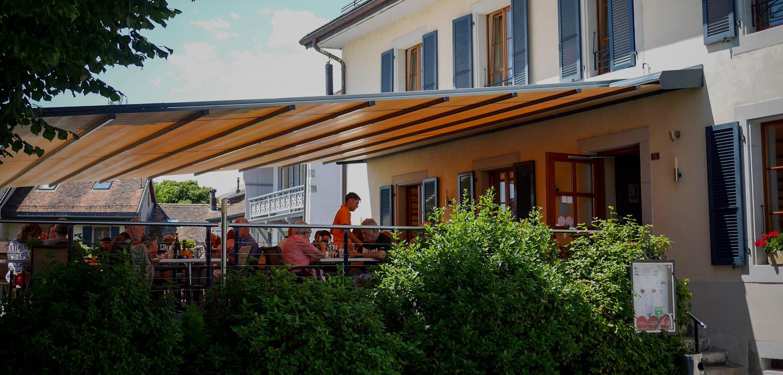 Bannière Terrasse Auberge de Gilly